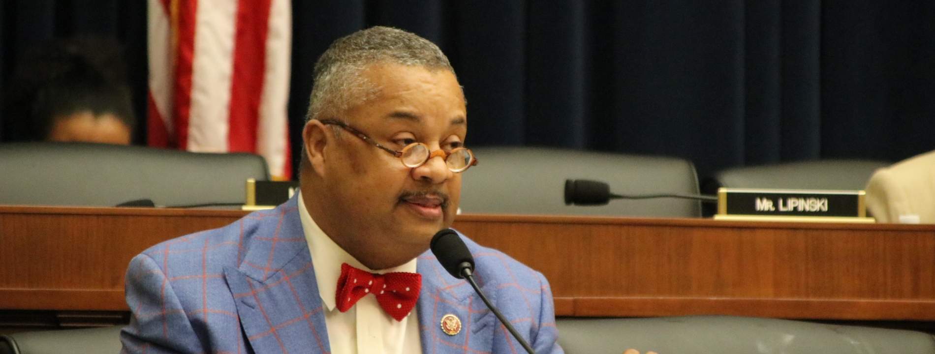 Rep. Payne speaking at a hearing