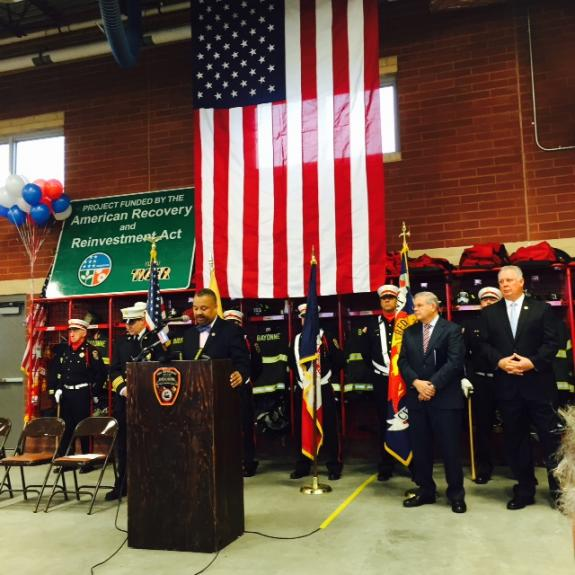 Payne Attends Ribbon Cutting of New Bayonne Firehouse